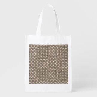 Rustic Burlap Texture Reusable Grocery Bags