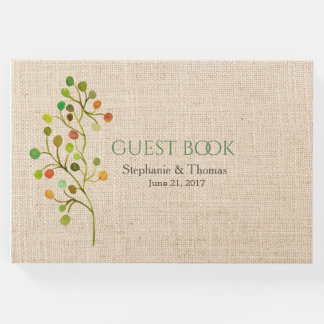Rustic Burlap Wedding Guest Book