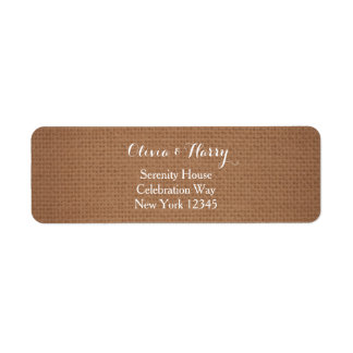 Rustic Burlap Wedding Return Address Labels
