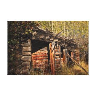 Rustic Cabin Art Canvas Print