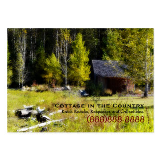 Rustic Cabin on the first day of Autumn Business Cards