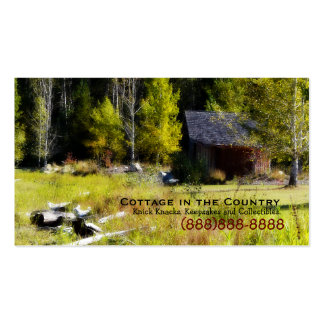Rustic Cabin on the first day of Autumn Pack Of Standard Business Cards