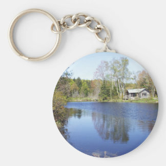 Rustic Cabin on Water Get-A-Way Key Ring