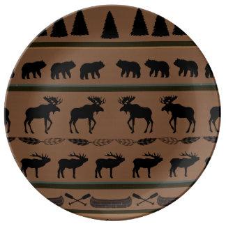 Rustic Cabin Porcelain Plate