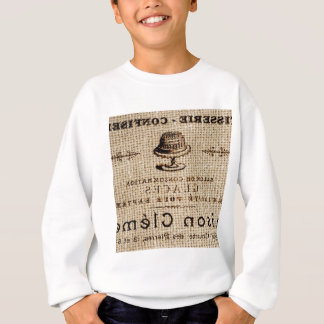 rustic cake on plate design sweatshirt