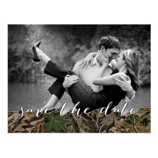 Rustic Camo Country Photo Save the Date Cards Postcard