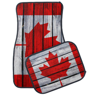 Rustic Canadian Flag Car Mat
