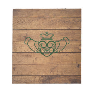 Rustic Celtic Claddagh Notepad