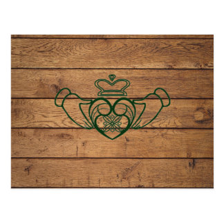 Rustic Celtic Claddagh Postcard
