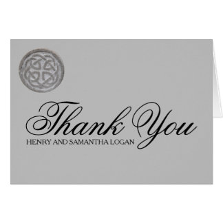 Rustic Celtic Knot Personalized Thank You Note Card
