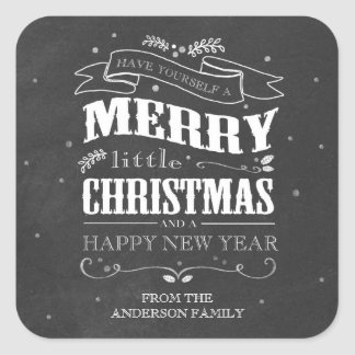 Rustic Chalkboard Christmas Sticker