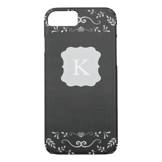 Rustic Chalkboard Flourish Design iPhone 8/7 Case