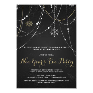 RUSTIC CHALKBOARD NEW YEAR'S EVE PARTY INVITATION