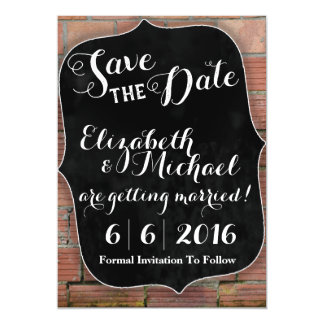 Rustic Chalkboard Save the Date Magnetic Card