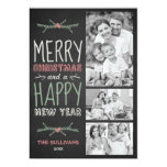 Rustic Chalkboard Typography Holiday Photo Card 13 Cm X 18 Cm Invitation Card