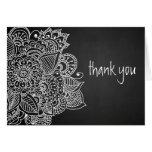 Rustic Chalkboard Vintage Paisley Thank You