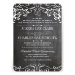 Rustic Chalkboard Vintage Typography Invite