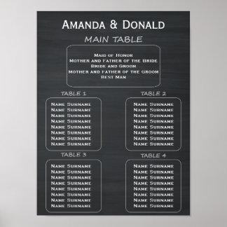 Rustic Chalkboard Wedding 32 Guest Seating Chart