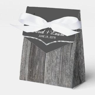 Rustic Chalkboard Wedding Party Favor Box