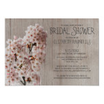 Rustic Cherry Blossom Bridal Shower Invitations