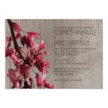 Rustic Cherry Blossoms Wedding Invitations Custom Invite