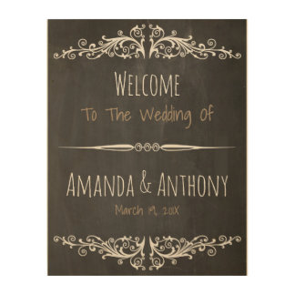 Rustic chic blackboard sign wood canvases
