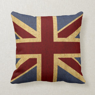 Rustic Chic Union Jack Cushion