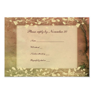 Rustic Chic Warm Colors rsvp with envelopes 9 Cm X 13 Cm Invitation Card