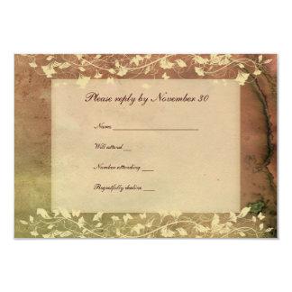 Rustic Chic Warm Colors rsvp with envelopes 9 Cm X 13 Cm Invitation Card