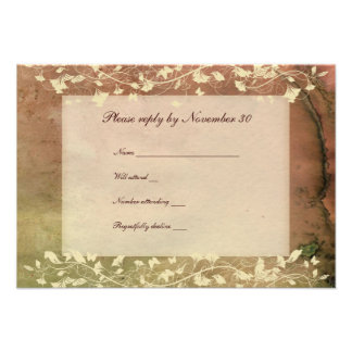 Rustic Chic Warm Colours rsvp with envelopes Personalised Invite