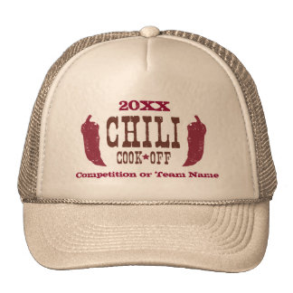 Rustic Chili Cook Off Competition Cap
