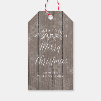 Rustic Christmas Gift Tags