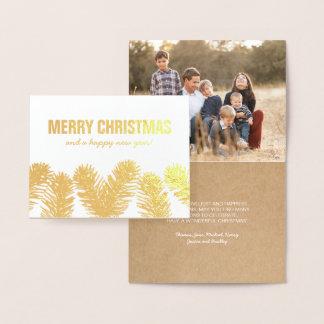 Rustic Christmas Gold Foil Photo Foil Card