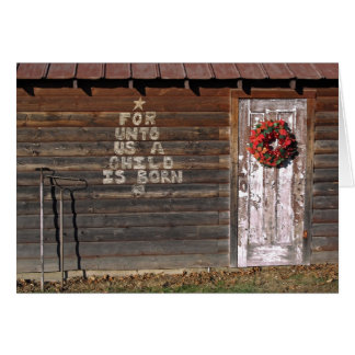 Rustic Christmas Graffiti Card