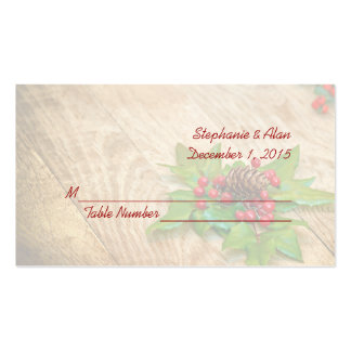Rustic Christmas Holly Wedding Place Cards Pack Of Standard Business Cards
