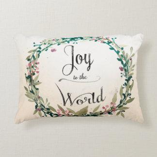 Rustic Christmas Joy to World Decorative Cushion