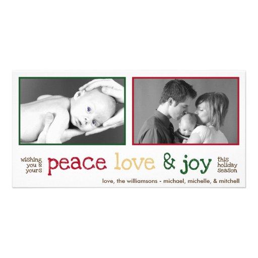 Rustic Christmas Photocards (White Smoke) Photo Card