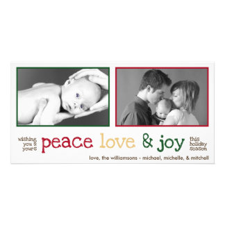 Rustic Christmas Photocards (White Smoke) Photo Card