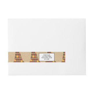 Rustic Christmas Trees Pattern.png Wraparound Address Label