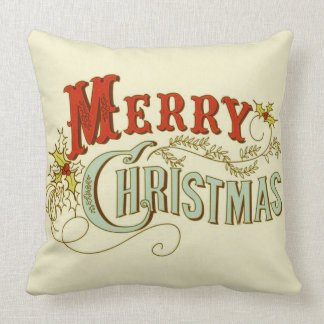 Rustic Classic and Traditional Merry Christmas Cushion