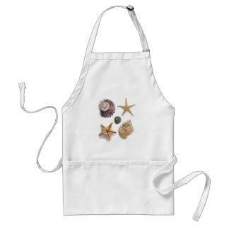 rustic coastal  beach chic seashell starfish standard apron