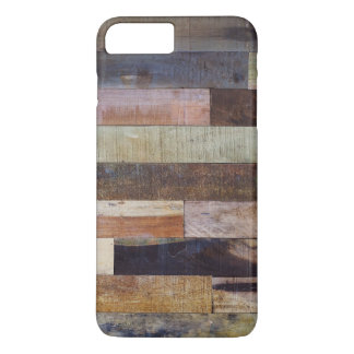 Rustic colored wooden planks iPhone 7 plus case