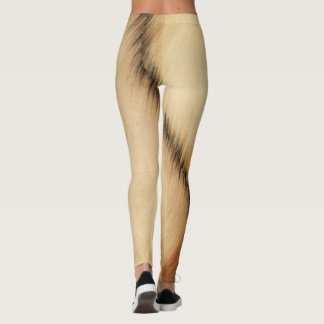 Rustic Comedy and Tragedy Theater Masks Leggings