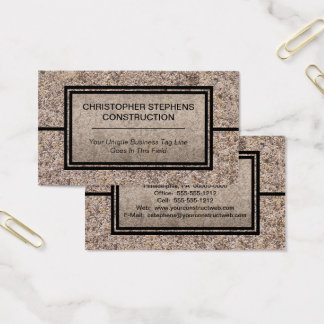 Rustic Concrete Construction Business Business Card