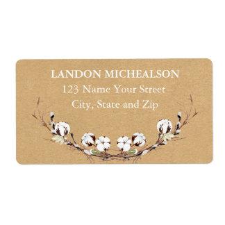 Rustic Cotton Address Labels