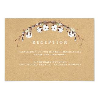 Rustic Cotton Reception Information Insert Card