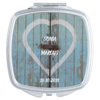 Rustic Country barn door wedding keepsake Compact Mirror