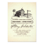 Rustic Country Barn Wedding Invitations