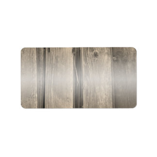 Rustic Country Barn Wood Address Label