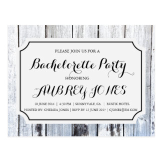 Rustic Country Barn Wood Bachelorette Party Postcard